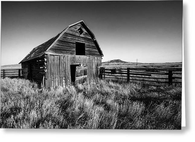 Weathered Barn Greeting Card by Todd Klassy