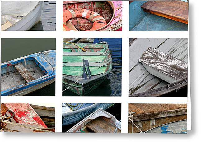 Canoe Photographs Greeting Cards - Weathered Boats Greeting Card by Art Block Collections