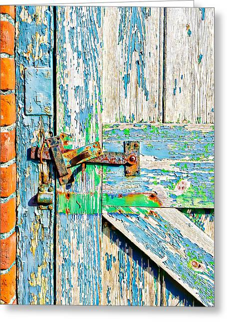 Weathered Gate Greeting Card by Tom Gowanlock