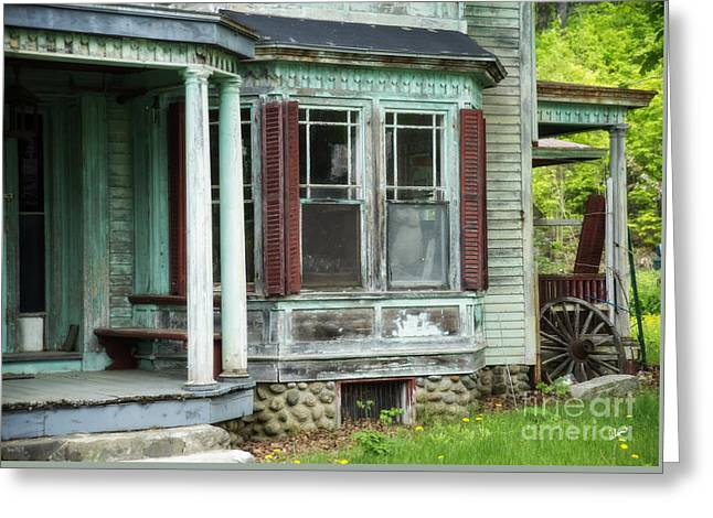 Historic Home Greeting Cards - Weathered Old Home Greeting Card by Alana Ranney