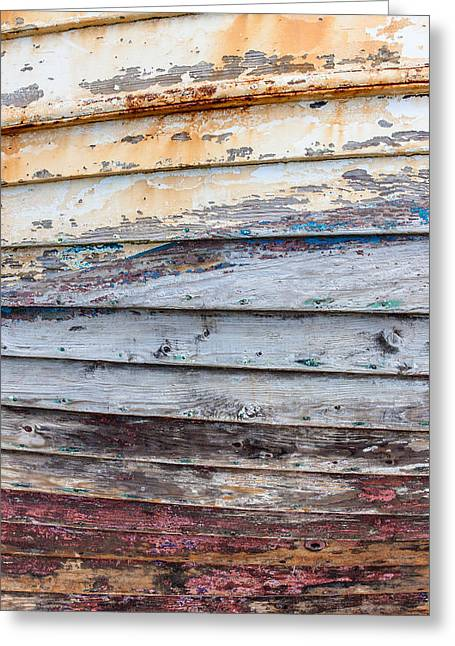Wooden Ship Greeting Cards - Weathered Paintwork Greeting Card by Chris Dale