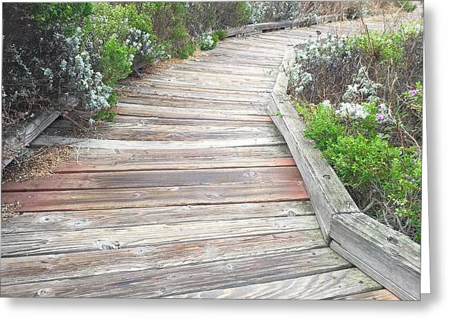 Cambria Greeting Cards - Weathered Path Greeting Card by Russell Keating