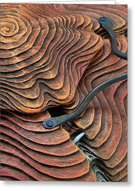 Opal Sculptures Greeting Cards - Weathered Relic Greeting Card by Jacques Vesery