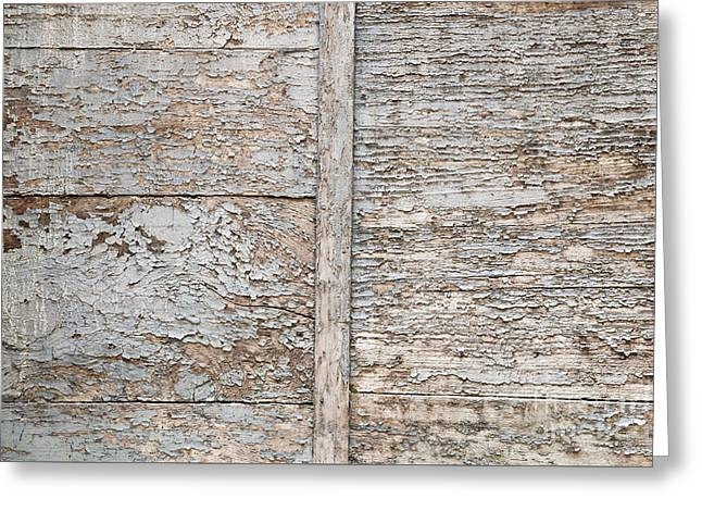 Painted Walls Greeting Cards - Weathered wood background Greeting Card by Elena Elisseeva