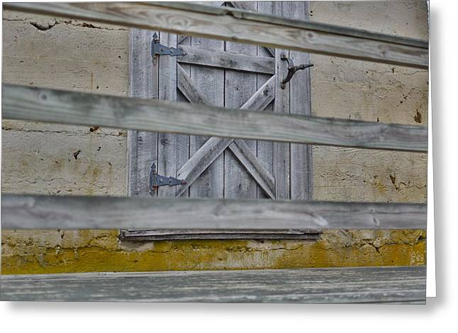 Bard Door Greeting Cards - Weathered Wood Greeting Card by Christie  Wilson