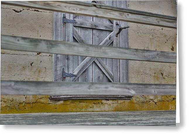 Barn Door Greeting Card by Christie  Wilson