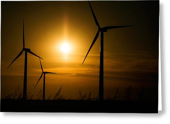 Weatherford Wind Power Greeting Card by Lana Trussell