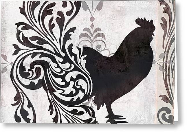 Rooster Greeting Cards - Weathervane II Greeting Card by Mindy Sommers