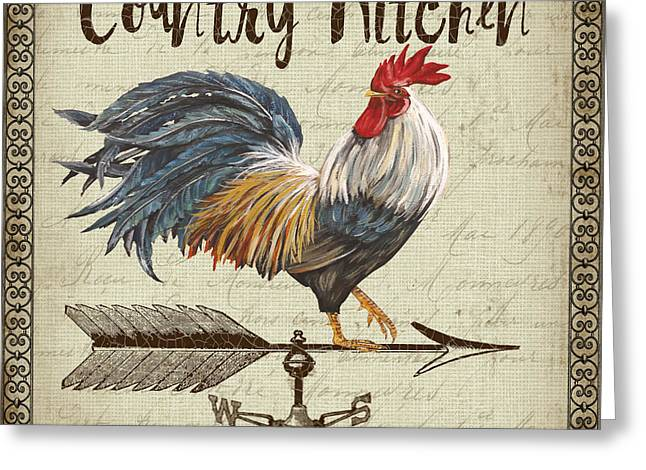 Weathervane Rooster-jp3771 Greeting Card by Jean Plout