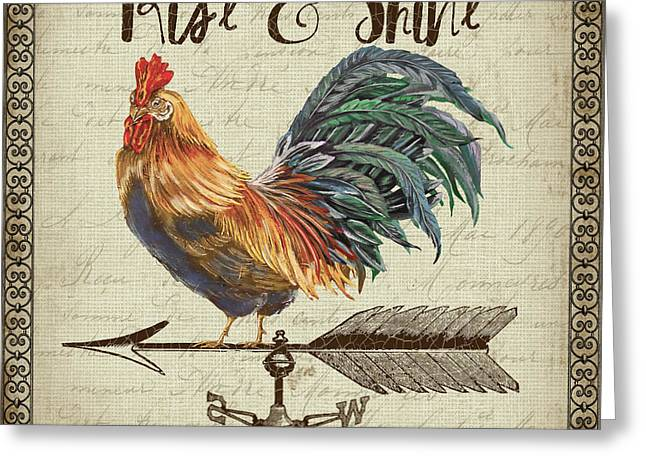 Weathervane Rooster-jp3772 Greeting Card by Jean Plout