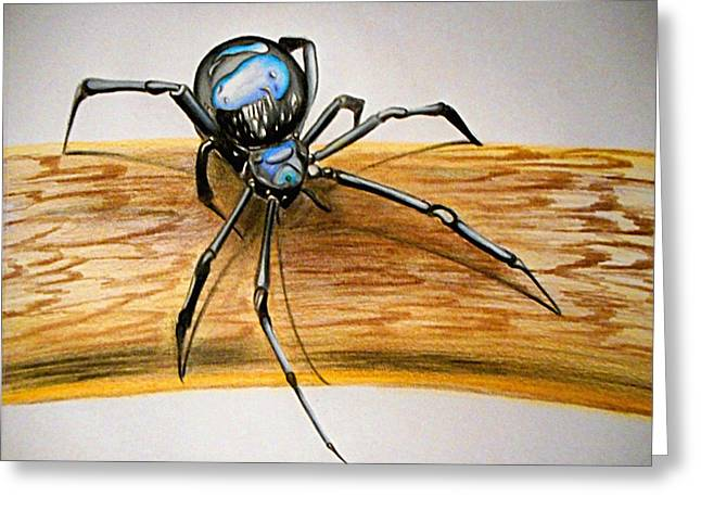 Black Widow Greeting Cards - Weave Come A Long Way Greeting Card by Joseph  Fraser