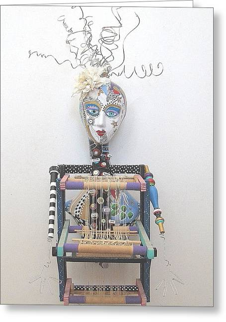 Inspirational Sculptures Greeting Cards - Weave Me Be Greeting Card by Keri Joy Colestock