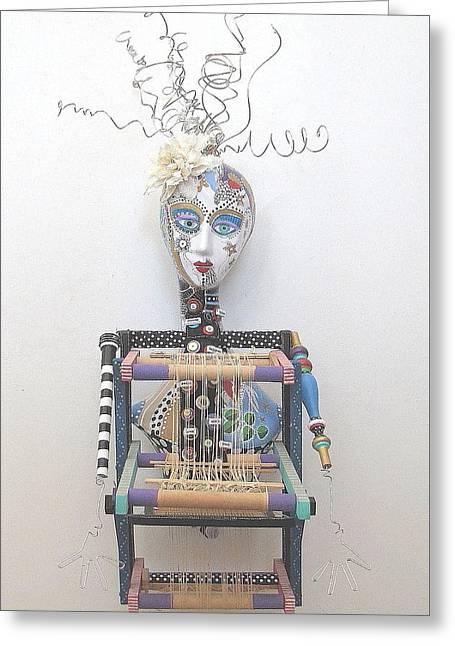 Sculpey Greeting Cards - Weave Me Be Greeting Card by Keri Joy Colestock