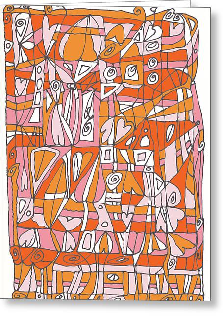 Ink Drawing Greeting Cards - Weave What Works Greeting Card by Linda Kay Thomas
