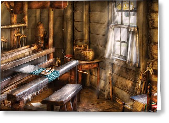 Weaver - The Weavers Room Greeting Card by Mike Savad