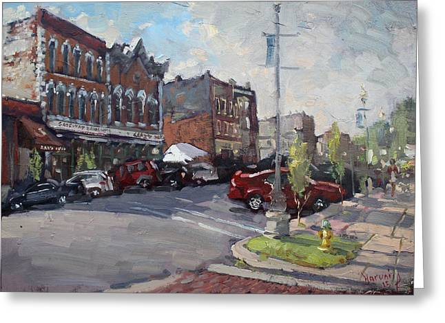 Webster Street North Tonawanda Greeting Card by Ylli Haruni