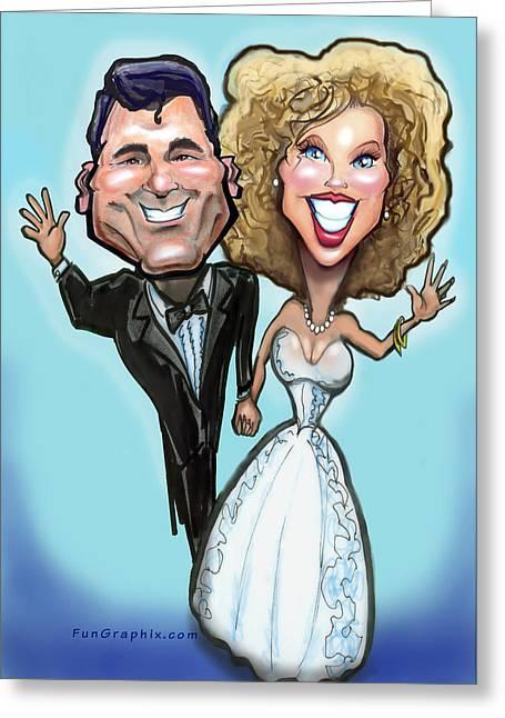 Wedding Cake Dolls Greeting Card by Kevin Middleton