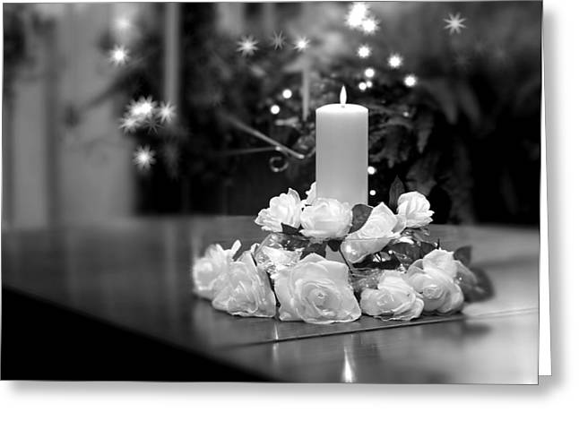 Wedding Candle Greeting Card by Tom Mc Nemar