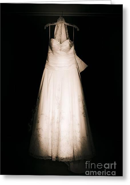 Wedding Dress Greeting Card by Jorgo Photography - Wall Art Gallery