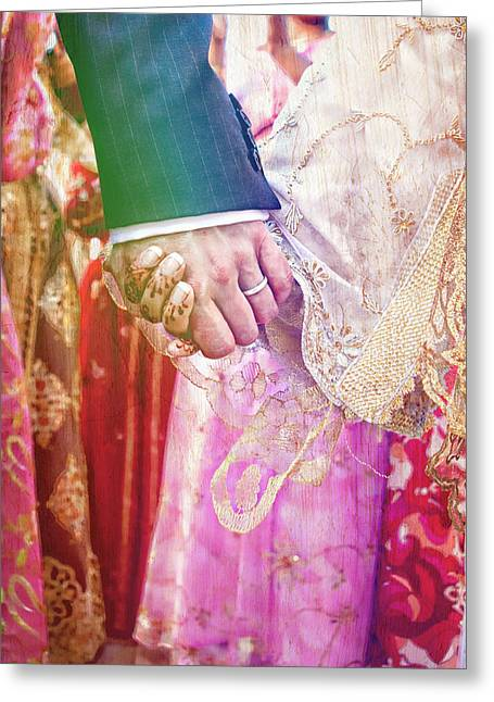 Pairs Greeting Cards - Wedding hands Greeting Card by Tom Gowanlock