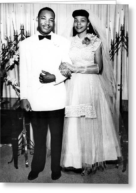 Wedding Of Martin Luther King And Coretta Scott Greeting Card by American School