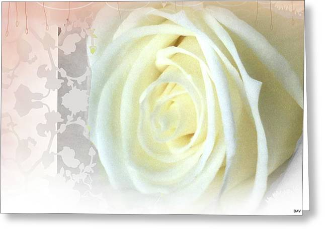 Photograph Of Peaches Greeting Cards - Wedding Rose Collection  Greeting Card by Debra     Vatalaro