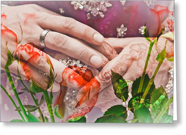 Marry Greeting Cards - Wedding  Greeting Card by Tom Gowanlock