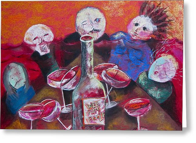 Tracey Levine Greeting Cards - Wee Fun Booze Greeting Card by Tracey Levine