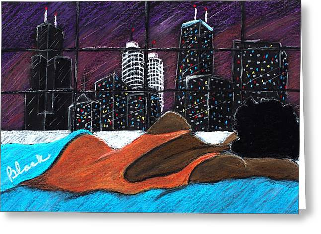 City Art Greeting Cards - Wee Small Hours Greeting Card by Charlie Black
