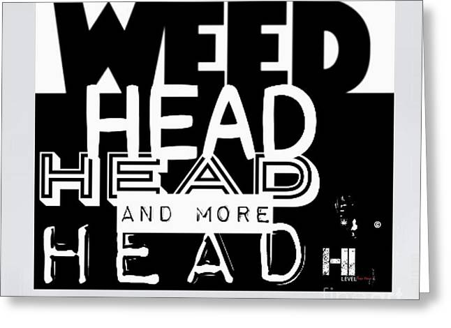 Miami Tapestries - Textiles Greeting Cards - Weed Head Greeting Card by HI Level