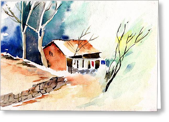 Weekend House Greeting Card by Anil Nene