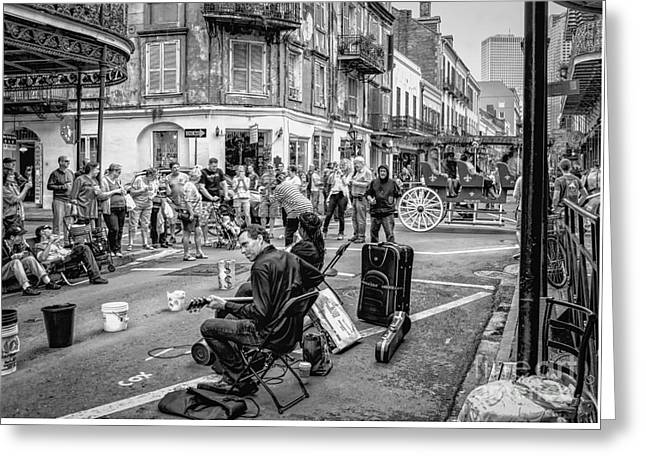 Print Photographs Greeting Cards - Weekend Jazz on Royal St. NOLA Greeting Card by Kathleen K Parker