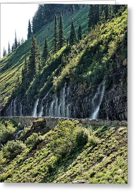Mountain Road Greeting Cards - Weepin Wall 3 Greeting Card by John Trommer