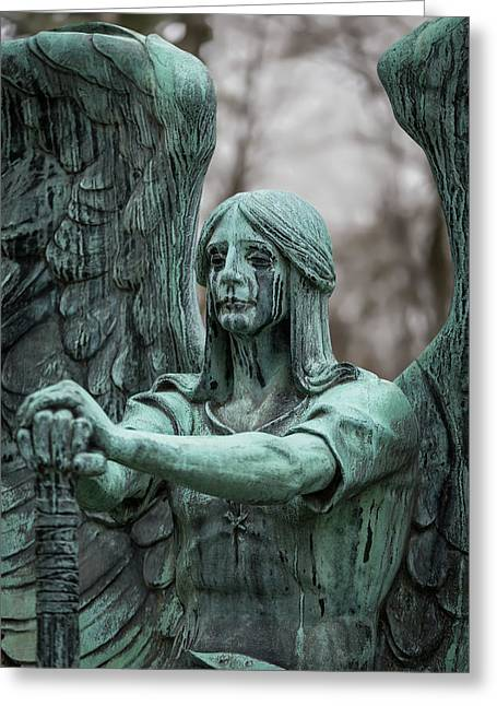 Weeping Angel Greeting Card by Dale Kincaid