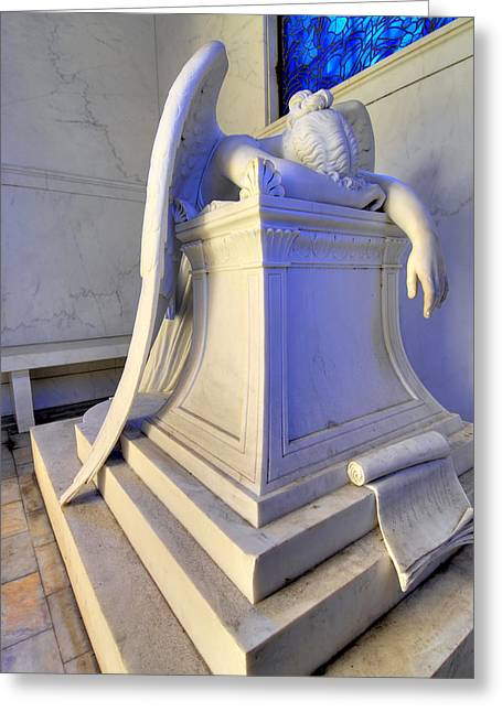 Metairie Cemetery Greeting Cards - Weeping Angel Greeting Card by Ellis C Baldwin