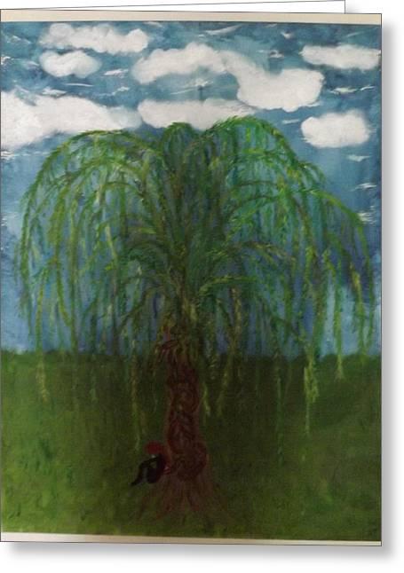 Weeping Greeting Cards - Weeping willow Greeting Card by Linda Tripodi