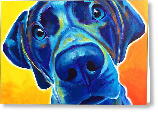 Weimaraner - Bentley Greeting Card by Alicia VanNoy Call