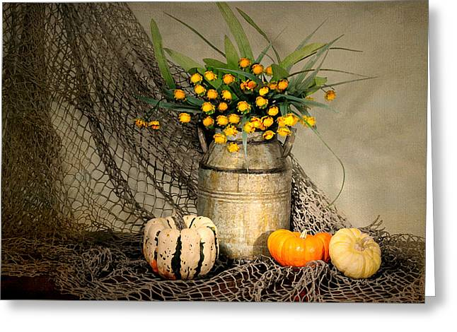 Welcome Autumn Greeting Card by Diana Angstadt