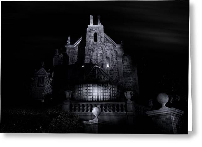 Welcome Foolish Mortals Greeting Card by Mark Andrew Thomas