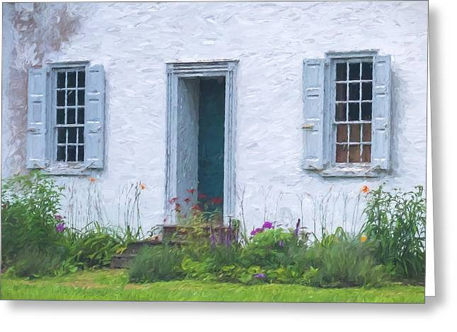 Stepping Stones Greeting Cards - Welcome Home Old Door and Windows Greeting Card by Terry DeLuco