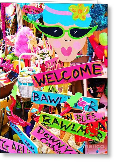 Welcome Hon Greeting Card by Debbi Granruth