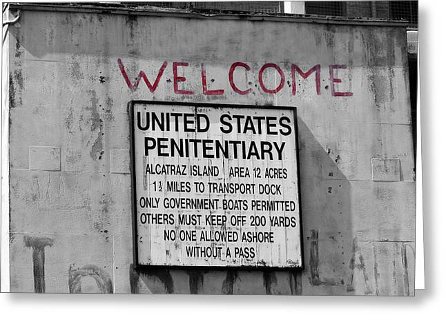 Alcatraz Greeting Cards - Welcome Greeting Card by Ivan SABO