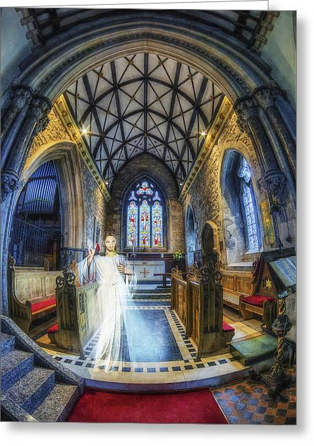 Medieval Temple Greeting Cards - Welcome My Children Greeting Card by Ian Mitchell