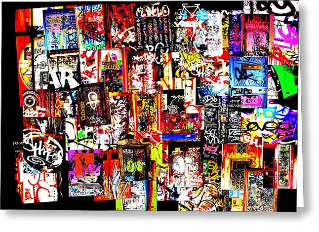 Welcome to Barcelona Graffiti Nirvana Greeting Card by Funkpix Photo Hunter