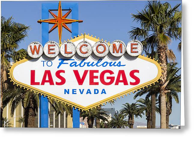 Ceasars Palace Greeting Cards - Welcome To Fabulous Las Vegas Nevada Greeting Card by Jon Berghoff