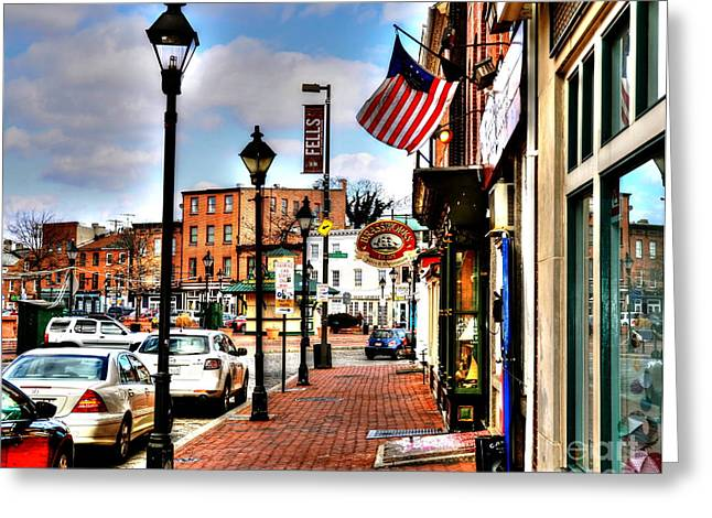 Welcome To Fells Point Greeting Card by Debbi Granruth
