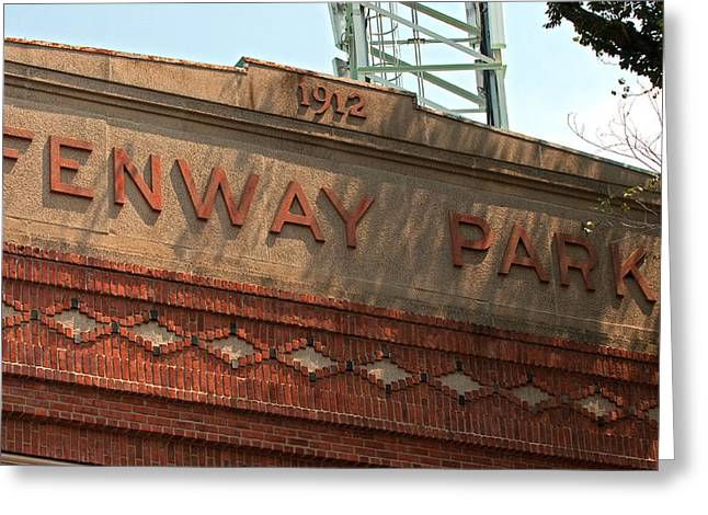Fenway Park Greeting Cards - Welcome to Fenway Park Greeting Card by Paul Mangold