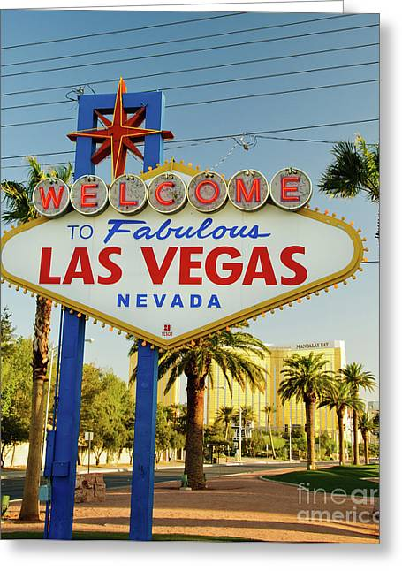 Charles Dobbs Greeting Cards - Welcome to Las Vegas Greeting Card by Charles Dobbs