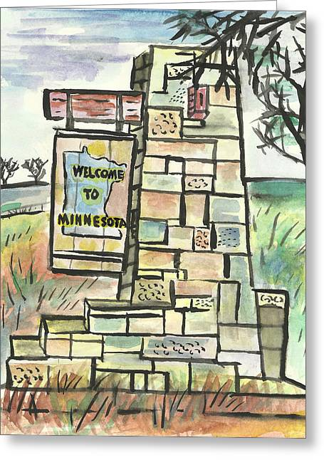 Welcome To Minnesota Greeting Card by Matt Gaudian