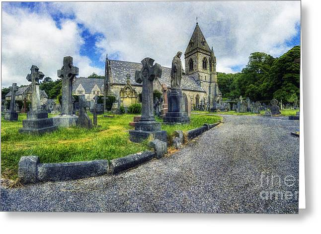 Headstones Greeting Cards - Welcome To Our Church Greeting Card by Ian Mitchell